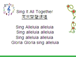 Sing It All Together