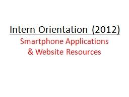 Intern Orientation (2012)