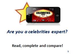 Are you a celebrities expert?