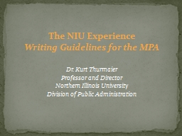 The NIU Experience PowerPoint PPT Presentation