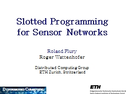 Slotted Programming PowerPoint PPT Presentation