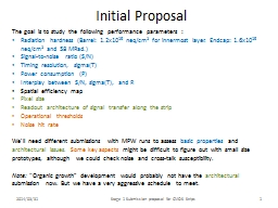 Initial Proposal
