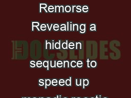 Reection without Remorse Revealing a hidden sequence to speed up monadic reectio PDF document - DocSlides