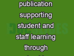 A bimonthly publication supporting student and staff learning through school imp