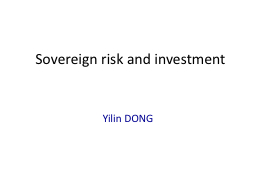 Sovereign risk and investment PowerPoint PPT Presentation