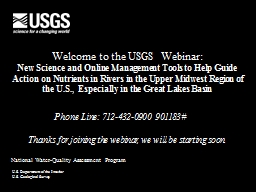 Welcome to the USGS Webinar: