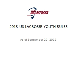 2013 US LACROSSE YOUTH RULES