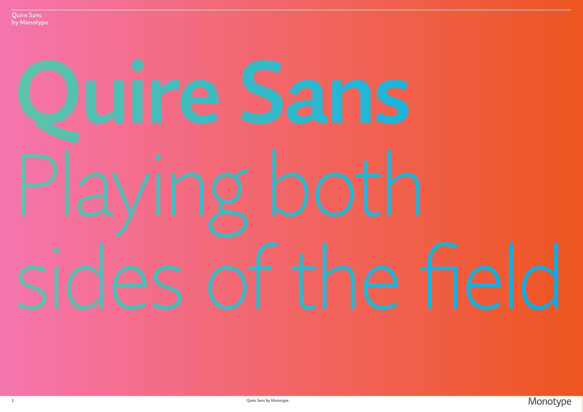 Quire Sans by Monotype