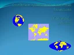 Coordinate Systems,