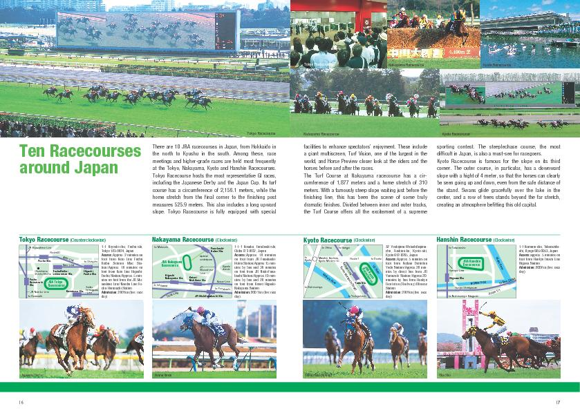1617There are 10 JRA racecourses in Japan, from Hokkaido in the north