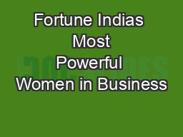 Fortune Indias  Most Powerful Women in Business