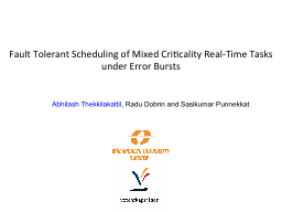 Fault Tolerant Scheduling of Mixed PowerPoint PPT Presentation