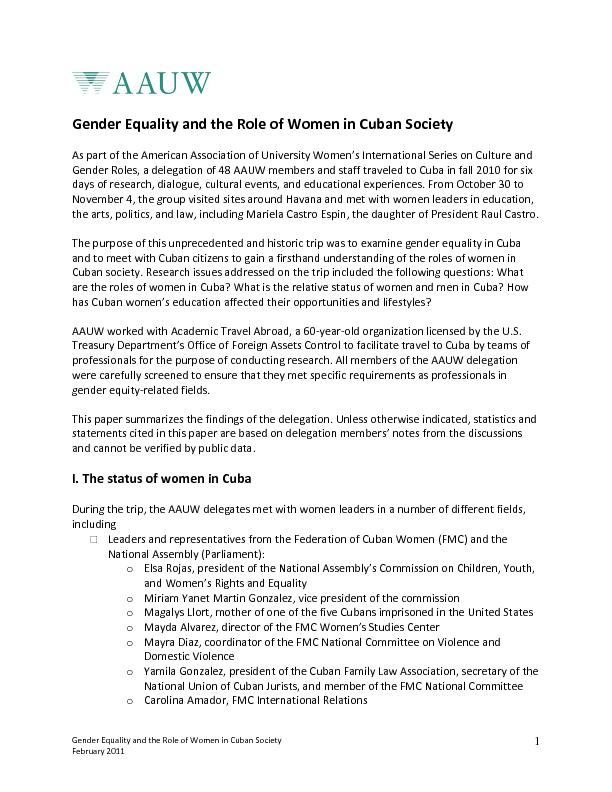 the role played by women in the cuban revolution essay Cuban revolution essay he is a marxist revolutionary from argentina who played a leading role in the cuban revolution of the the women of dreaming in cuban.