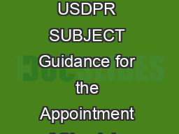 June   Incorporating Change  Effective March   USDPR SUBJECT Guidance for the Appointment of Chaplains for the Military Departments References a DoD Directive
