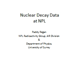 Nuclear Decay Data