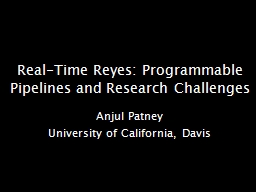 Real-Time Reyes: Programmable Pipelines and Research Challe