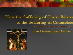 How the Suffering of Christ Relates to the Suffering of Cou