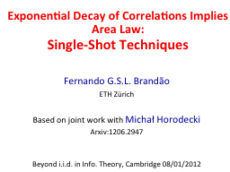 Exponential Decay of Correlations Implies Area Law: