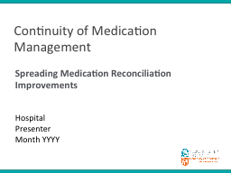 Continuity of Medication Management