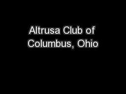 Altrusa Club of Columbus, Ohio