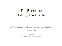 The Benefit of