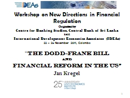 Workshop on New Directions in Financial Regulation
