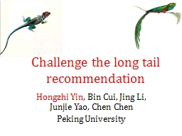 Challenge the long tail recommendation PowerPoint PPT Presentation