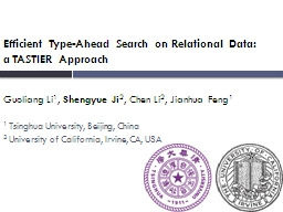 Efficient Type-Ahead Search on Relational Data: