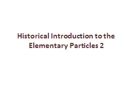 Historical Introduction to the PowerPoint PPT Presentation