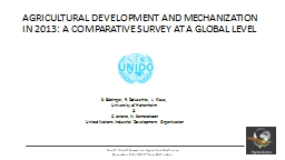 1 Fourth World Summit on Agriculture Machinery PowerPoint PPT Presentation