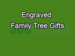 Engraved Family Tree Gifts
