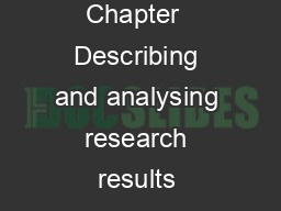 Chapter  Describing and analysing research results  PDF document - DocSlides