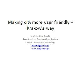 Making city more user friendly – Krakow