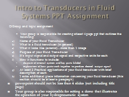 Intro to Transducers in Fluid Systems