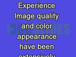 How to Make Life More Colorful From Image Quality to Atmosphere Experience Image quality and color appearance have been extensively studied in the past decades which has resulted in high quality disp PowerPoint PPT Presentation