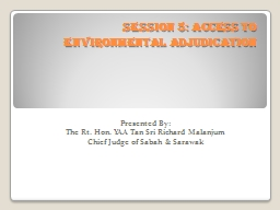 Session 5: Access to Environmental Adjudication PowerPoint PPT Presentation