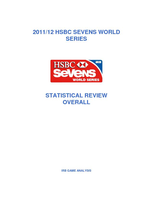 2011/12 HSBC SEVENS WORLD SERIES  STATISTICAL REVIEW OVERALL  IRB GAME PowerPoint PPT Presentation