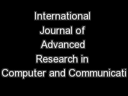 international journal of advanced research in Research & reviews | international journal of advanced research in electrical, electronics and instrumentation engineering.