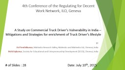 A Study on Commercial Truck PowerPoint PPT Presentation