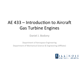 AE 433 – Introduction to Aircraft