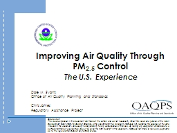 Improving Air Quality Through PowerPoint PPT Presentation
