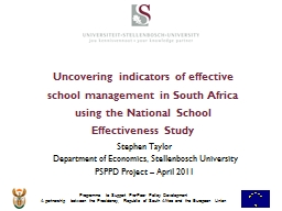 Uncovering indicators of effective school management in Sou