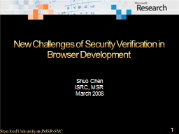 New Challenges of Security Verification in Browser Developm