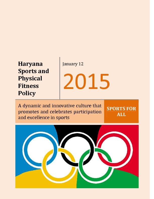 Haryana Sports and Physical Fitness Policy
