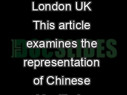 Museums and nationalism in contemporary China Edward Vickers University of London UK This article examines the representation of Chinese identity in museums in the Peoples Republic of China comparing