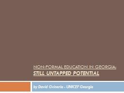 Non-formal education in Georgia: