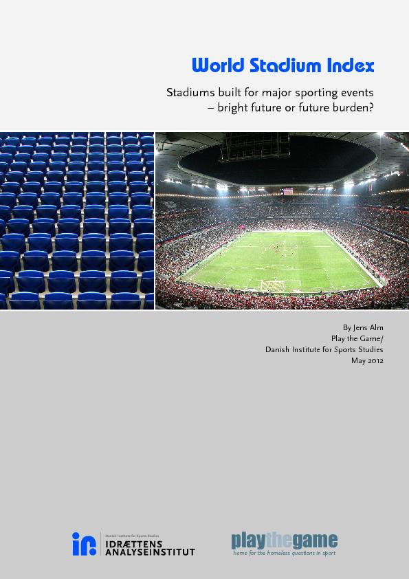 2 Title World Stadium Index Stadiums built for major sporting events