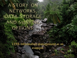 LTER information management as an example