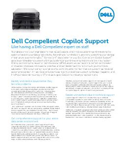 Identify and resolve issues before they become problems With extensive storage knowledge and industryleading support tools Dell Copilot Support engineers provide prompt and exceptional technical supp