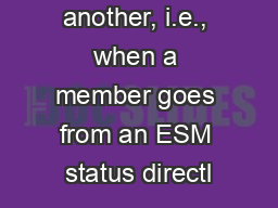 status to another, i.e., when a member goes from an ESM status directl PowerPoint PPT Presentation